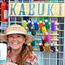Kabuki Hats booth at Jazz Fest Tracy Thomson